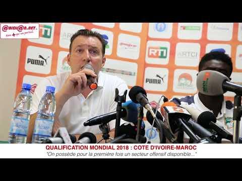 """Qualification mondial 2018 Côte d'Ivoire Maroc, Marc Wilmots """"Nous sommes prêts à 200 %"""""""