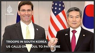 미국은 서울에 미군 주둔에 더 많은 비용을 지불하도록 …