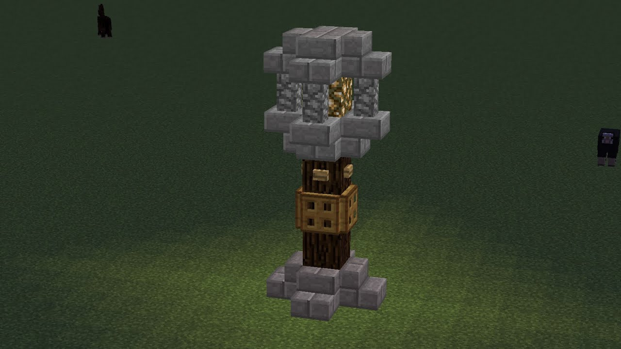Simple Builds Medieval Light Post Youtube