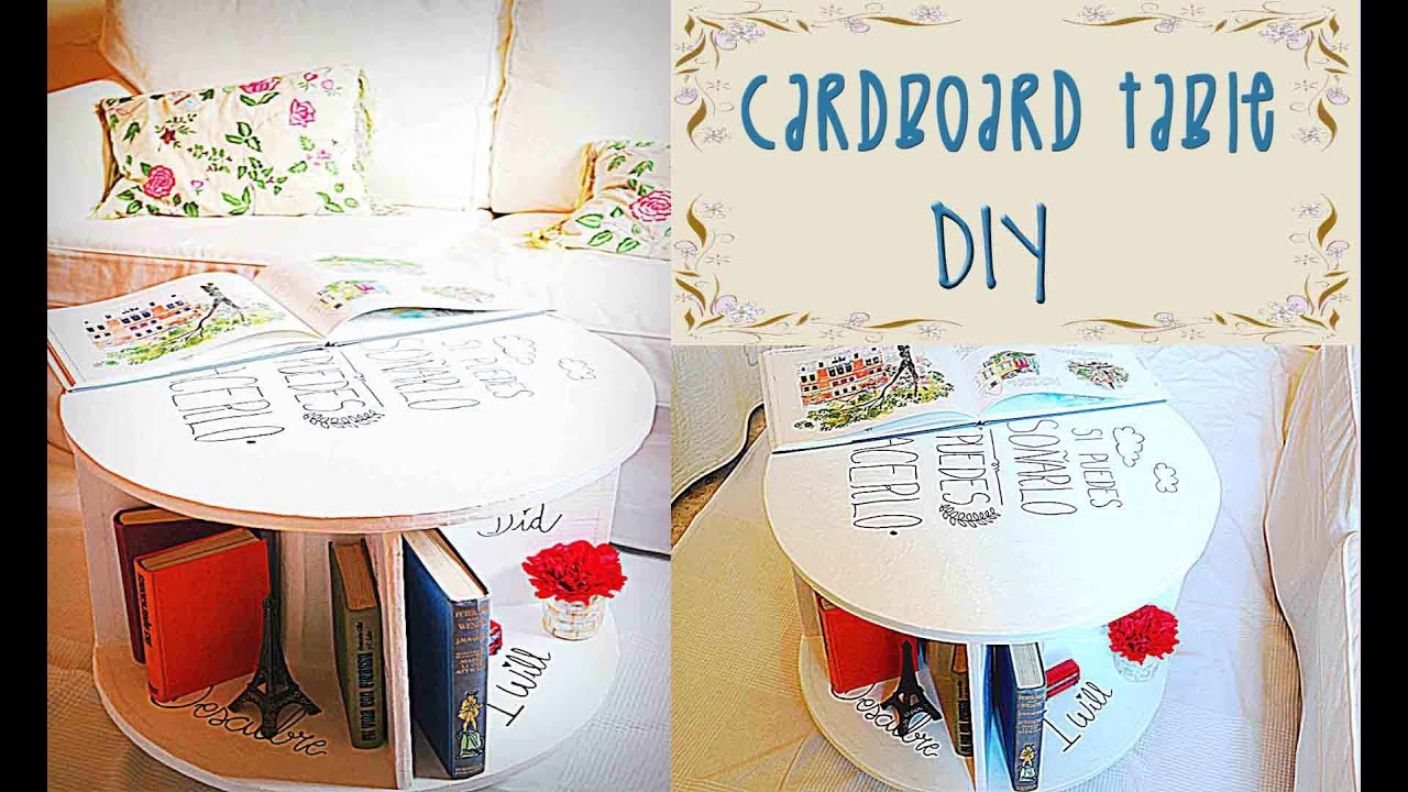 Cardboard table tutorial recycled crafts diy mery youtube solutioingenieria