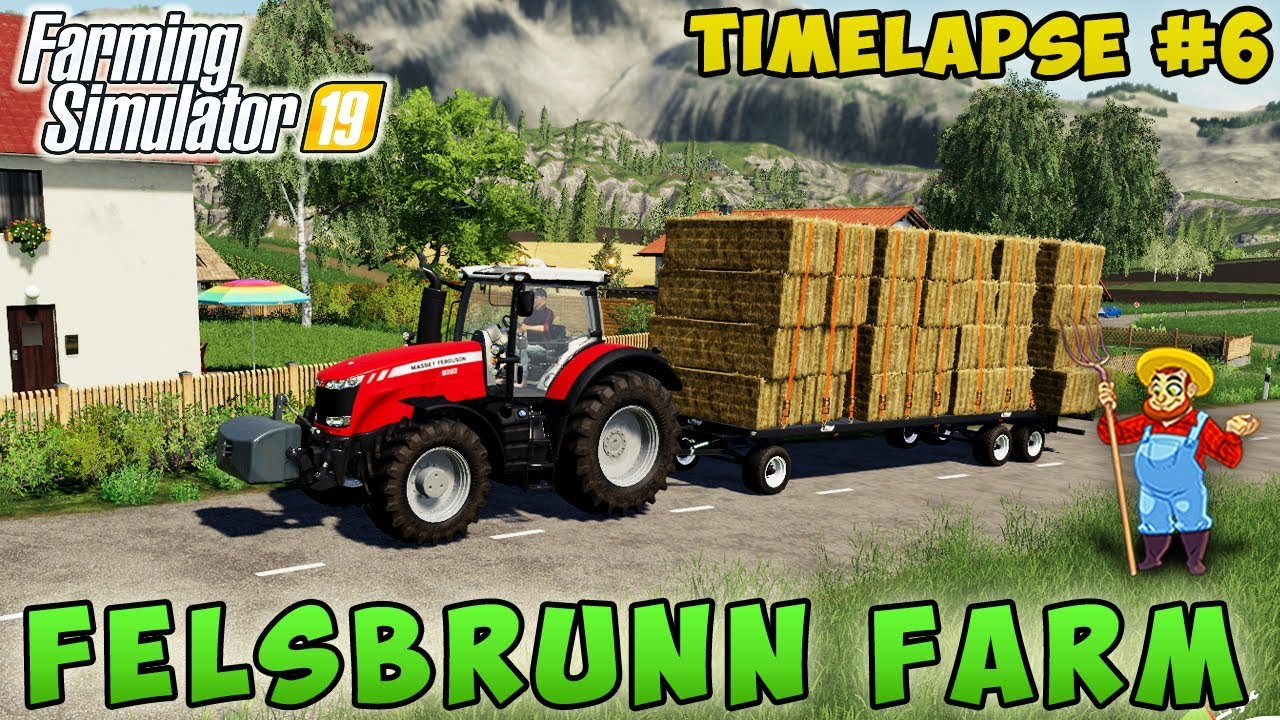 Farming simulator 19 | Felsbrunn Farm | Timelapse #06 | Making and selling  straw bales