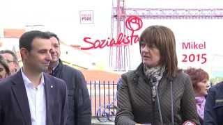Idoia Mendia en la presentación de la candidatura de Mikel Torres a la alcaldía de Portugalete