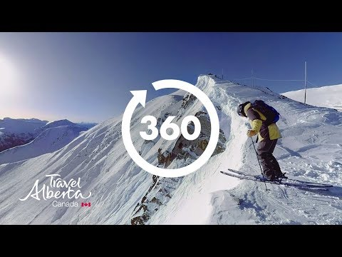 Skiing in Lake Louise Ski Resort | 360 Video | Alberta, Canada