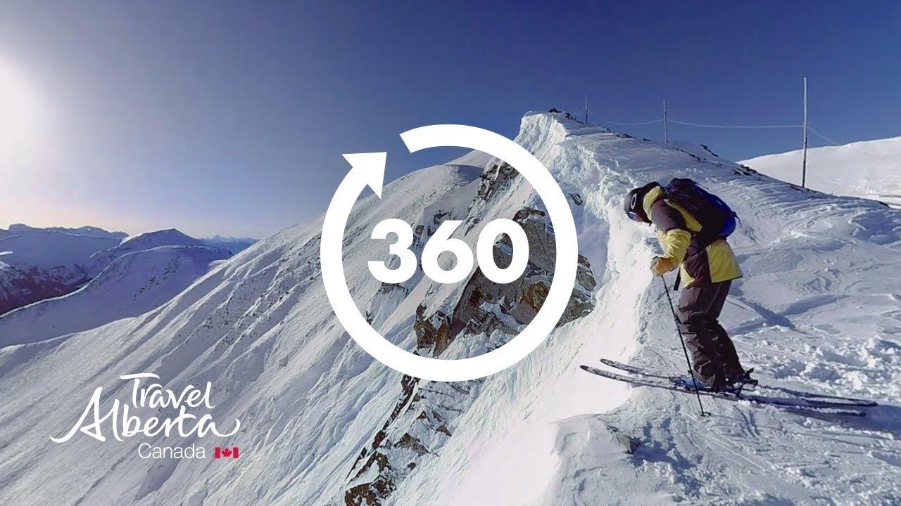 skiing at lake louise ski resort | 360 video | google jump 8k
