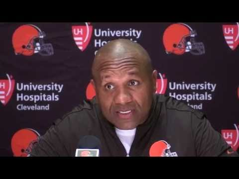 Hue Jackson on the release of Paul Kruger by Cleveland Browns