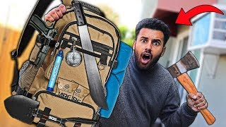 We Built DIY ZOMBIE APOCALYPSE SURVIVAL Bags!! ($200 CHALLENGE) *DOOMSDAY PREPPERS*