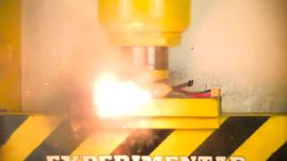 I SHOULD'VE NEVER DONE THAT !! - CRUSH BATTERY WITH HYDRAULIC PRESS - THE SMASHER SHOW thumbnail