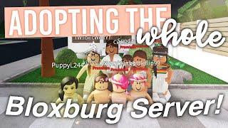Adopting the WHOLE Bloxburg Server! | ft. Fans | Roblox Bloxburg Skit | alixia