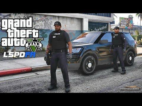 LSPDFR #576 - GANG UNIT PATROL (GTA 5 REAL LIFE POLICE PC MOD) GROVE ST LOCKDOWN