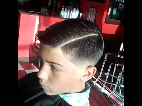 Young Man Cut Low Fade With Razor Hard Part Combover Youtube