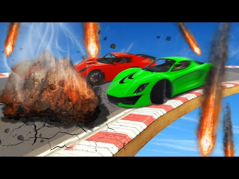 DODGE THE DEADLY METEORITES CHALLENGE! (GTA 5 Funny Moments)