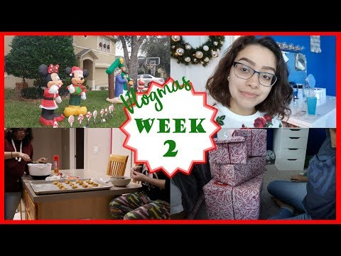 Finals, Filming, and Wrapping Presents! | VLOGMAS Week 2 | 2017