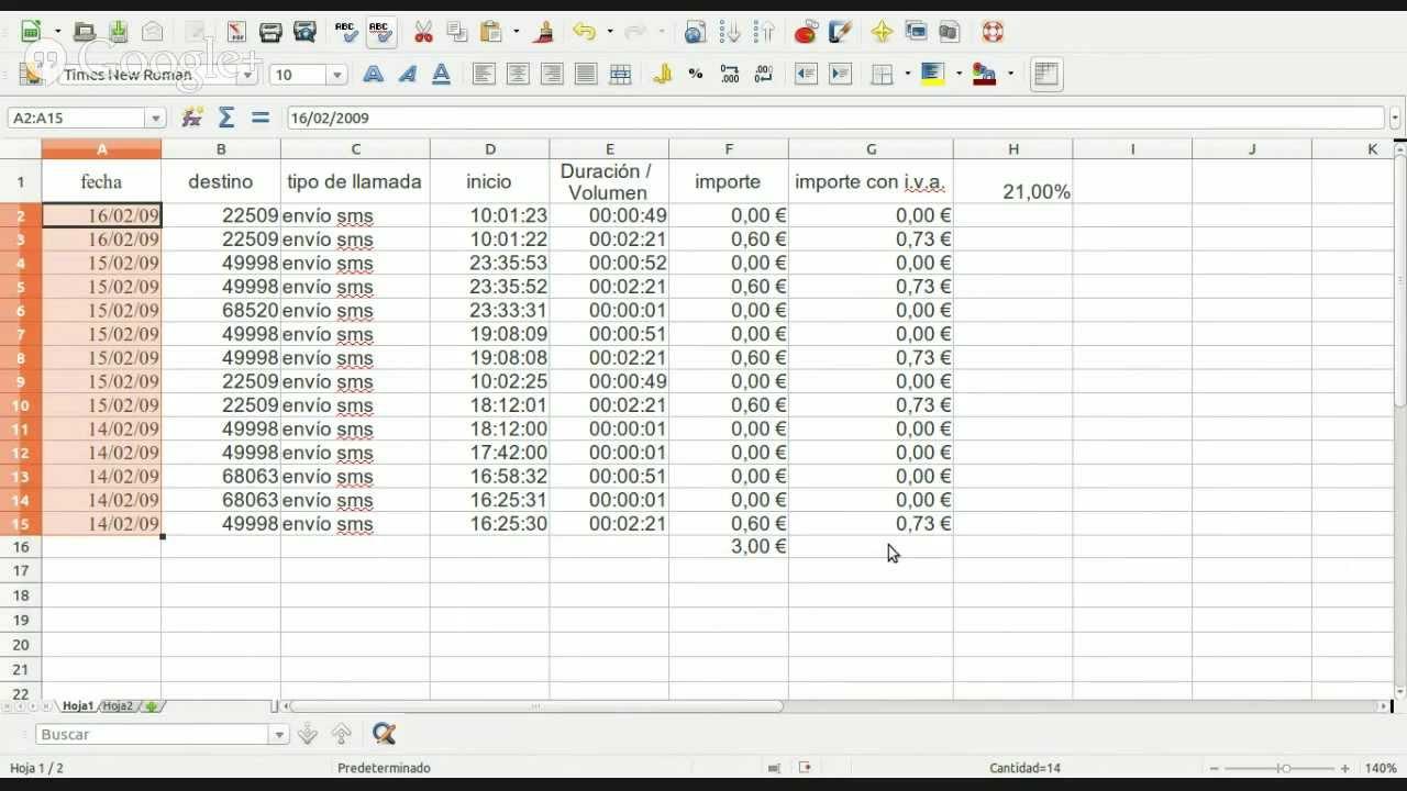 Hoja de Cálculo - Funciones - YouTube