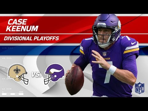 Case Keenum's Crazy Game w/ 318 Yards!   Saints vs. Vikings   Divisional Round Player HLs