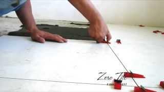 Наглядный пример Система выравнивания пола при укладке плитки форматом 600*600