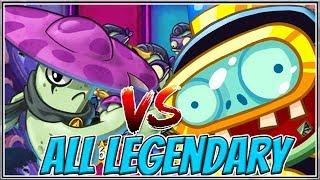 Night Cap Legendary Deck vs Impfinity Legendary Plants vs Zombies Heroes Gameplay