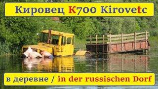 Как достать из речки трактор Кировец К-700? (18+)(Брянская область, Климовский район, с. Брахлов, Трактор
