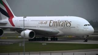 München Flughafen (Landung des neuen Airbus A380 der Emirates aus Dubai kommend)