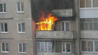 Пожар в квартире на ул. Максарева, д .13 - 31.03.2016 г. Нижний Тагил (Вагонка)