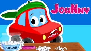 johny johny yes papa | nursery rhyme songs | little red car