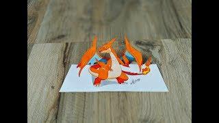 Drawing 3D Charizard From Pokemon || Drawing Pokemon || Art Maker Akshay