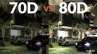 Canon 80D vs Canon 70D - Is it better in low light?