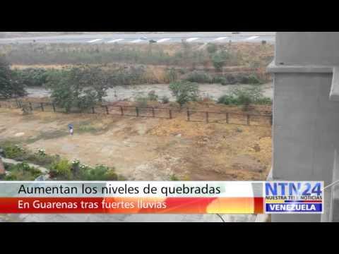 Aumentan los niveles de quebradas en Guarenas tras fuertes lluvias