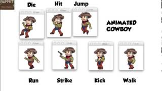 Animated Video Game Characters on Graphic-Buffet.com : Cowboy