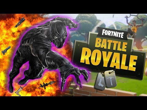 "BLACK PANTHER Plays FORTNITE! ""Wakanda Forever"""