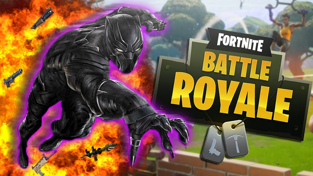 BLACK PANTHER Plays FORTNITE!