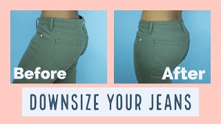 How to Downsize Your Jeans In 30mins ||SewAddicts