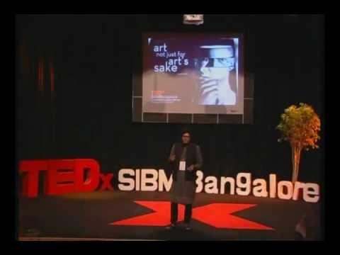 """The Charcoal Artist"" - Art Not Just For Art's Sake: Mr. Rupesh Patric at TEDxSIBMBangalore"