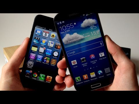 Comparatif - Samsung Galaxy S4 vs. Apple iPhone 5