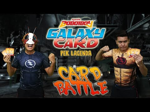 AWESOME! PEK LAGENDA CARD BATTLE!!! OFFICIAL BOBOIBOY GALAXY CARD FROM MONSTA!