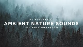My Favourite AMBIENT NATURE Sound Effects