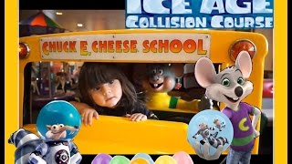 Ice Age Collision Surprise Eggs Course at Worlds Largest Chuck E. Cheese's