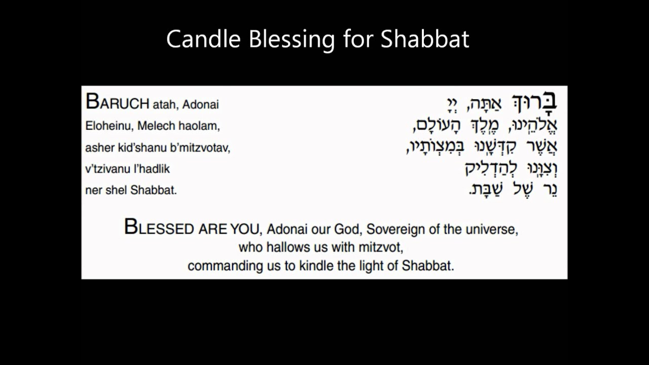 Shabbat Candle Blessings You