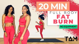20 Min FULL BODY FAT BURN WORKOUT || NO EQUIPMENT  - FOLLOW ALONG / The Athlete Method