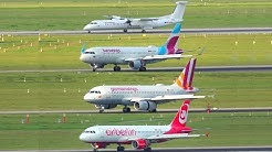 one Airline, four Liveries / Eurowings with Airberlin, white, Germanwings and normal livery