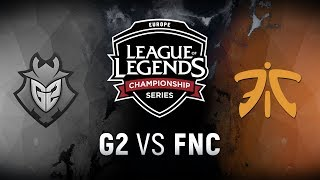 G2 vs. FNC - Week 7 Day 2 | EU LCS Summer Split | G2 Esports vs. Fnatic (2018)