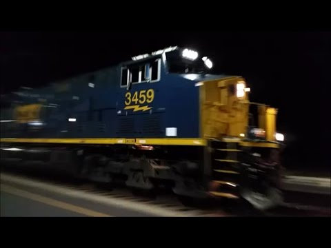 [CSXT]3459 GE ET44AH [SPORTING BRAND NEW BOX CAR LOGO]& ES44AH Leads Long Q410-30 & Hybrid K5HLL-R2