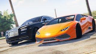 Реальная Жизнь в GTA 5 - УЛИЧНЫЕ ГОНКИ НА Rolls-Royce Wraith ПРОТИВ СТРИТ РЕЙСЕРОВ! ДОСТАВКА ЧАСТЕЙ!