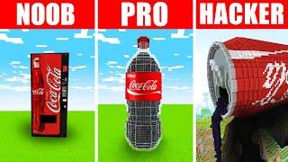 Minecraft NOOB vs. PRO vs. HACKER : COCA COLA BUILD CHALLENGE in Minecraft!