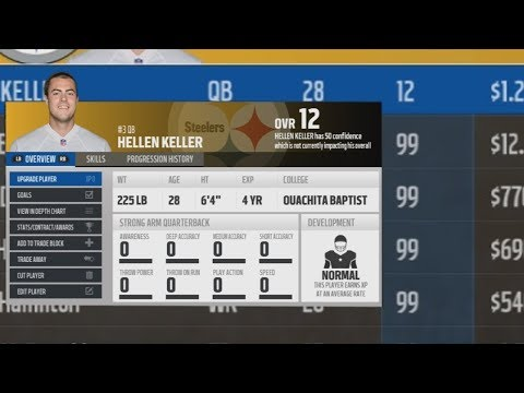 Could A 0 Overall Quarterback Lead a 99 Overall Team To the Super Bowl? Madden NFL