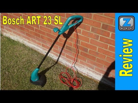 Bosch ART 23 SL Strimmer Trimmer Review and Demo