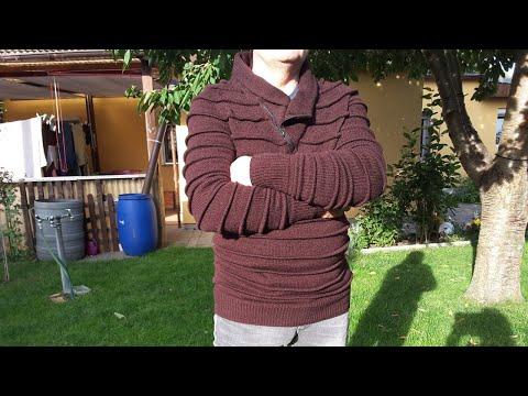 Вязание .Мужской свитер. Часть 1, спинка.   Образец.
