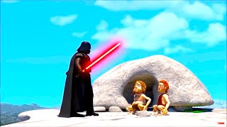 Gambar cover Funny Cartoon Parody of the Stone Age and Star Wars & Inventions in History