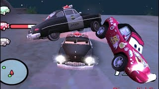 Disney Pixar Lightning McQueen Cars Movie Game  17 - Sheriff's Hot Pursuit Success or Fail