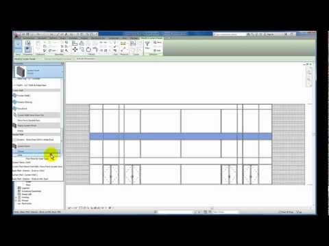 Revit Tutorials: Curtain Wall