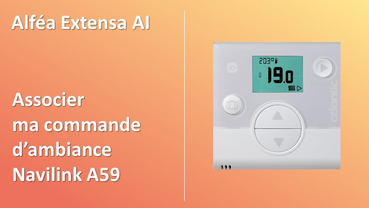 Comment Associer Le Thermostat De Ma Pompe A Chaleur Alfea A I Atlantic Youtube